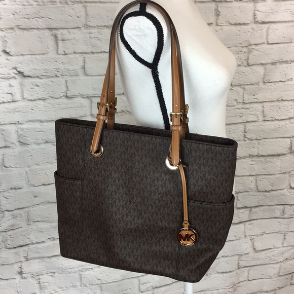 fe47932be21a Michael Kors Bags | Jet Set Travel Brown Large Tote Bag | Poshmark